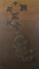 contemporary Acrylic Art Painting title 'Burning Desire 3' by artist Vaishnavi Naik