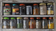 Still-life Acrylic Art Painting title Spices And Herbs by artist Parimal Vaghela