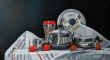 Still-life Acrylic Art Painting title 'Tomatoes' by artist Parimal Vaghela