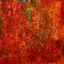Abstract Acrylic Art Painting title 'Red Earth' by artist Sunayana Malhotra