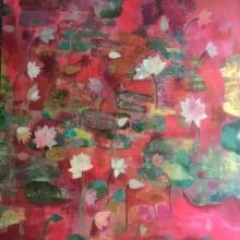 Nature Acrylic Art Painting title Shafaq by artist Sunayana Malhotra