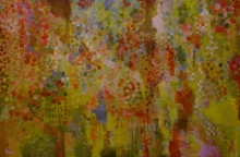 Abstract Acrylic Art Painting title The Green by artist Sunayana Malhotra