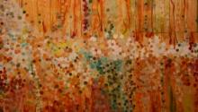 Abstract Acrylic Art Painting title The Vivid Earth by artist Sunayana Malhotra