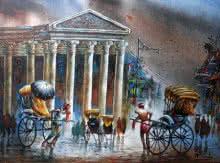 Kolkata II | Painting by artist Ananda Das | acrylic | Canvas