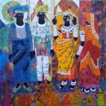 Rhythm 39 | Painting by artist Anuradha Thakur | acrylic | Canvas