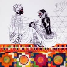 Rhythm 40 | Painting by artist Anuradha Thakur | acrylic | Canvas