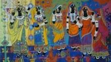 Rhythm 41 | Painting by artist Anuradha Thakur | acrylic | Canvas