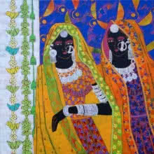 Ethnic Serendipity 154 | Painting by artist Anuradha Thakur | acrylic | Canvas