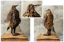 Mixedmedia Sculpture titled 'Penguin' by artist Vinit Barot