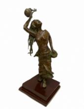 Bronze Sculpture titled 'Baul' by artist Chaitali Chanda