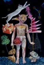 contemporary Mixed-media Art Painting title Trail Of Reason by artist Joydip Sengupta