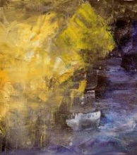 Abstract Acrylic Art Painting title Ganga Ghat by artist Amit Pithadia