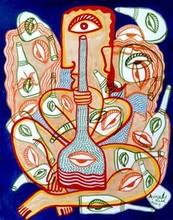 contemporary Acrylic Art Painting title Joie De Vivre by artist Avinash Karn