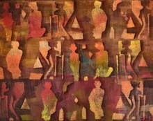 Abstract Acrylic Art Painting title Untitled by artist Zalak Bheda
