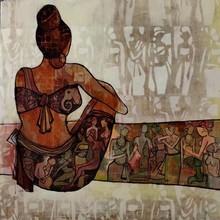 Erotic Acrylic Art Painting title Untitled by artist Zalak Bheda