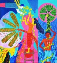 Chronicle Of The Ecstasies3 Copy | Painting by artist Gayatri Artist | acrylic | Canvas