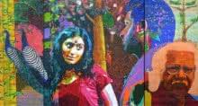Fantasy Acrylic Art Painting title 'Adoor' by artist Gayatri Artist