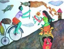 History - 6 | Painting by artist Gayatri Artist | watercolor | Paper