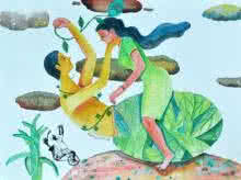 History 8 | Painting by artist Gayatri Artist | watercolor | Paper