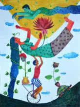 History7 | Painting by artist Gayatri Artist | watercolor | Paper