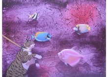 Animals Acrylic Art Painting title Untitled 12 by artist Bikash Mohanta