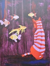 Animals Acrylic Art Painting title Untitled 14 by artist Bikash Mohanta
