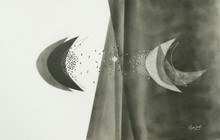 Abstract Charcoal Art Drawing title Untitled 10 by artist Narendra Jatav