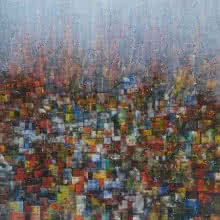 Cityscape 2 | Painting by artist M Singh | acrylic | Canvas