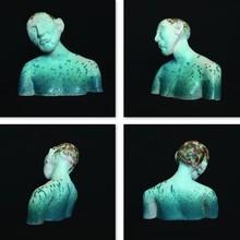 Ceramic Sculpture titled 'Thinker' by artist Tanzeem Baredia