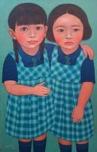 contemporary Acrylic Art Painting title School Friendship by artist Meena Laishram