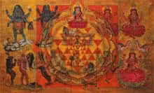 N P Rajeshwarr Paintings | Acrylic Painting - Dasha Maha Vidya by artist N P Rajeshwarr | ArtZolo.com
