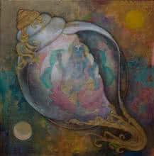 Panchajanyam | Painting by artist N P Rajeshwarr | acrylic | Canvas