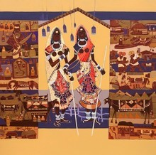 Figurative Acrylic Art Painting title Untitled 13 by artist Vaishali Patil