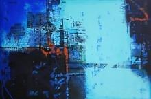 #abstract #canvaspainting #blueharmony #bluerhythm #abstractpainting #acryliconcanvas #abstractforsale #abstractinbluecolour
