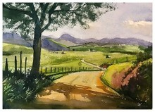 Landscape Watercolor Art Painting title Photo 2021-03-03 12-46-21 by artist KS Farvez