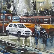 Cityscape Watercolor Art Painting title Kolkata 14 by artist Raju Sarkar