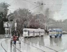 Cityscape Watercolor Art Painting title Kolkata 6 by artist Raju Sarkar