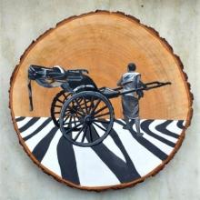 Transportation Acrylic Art Painting title Untitled 3 by artist Raju Sarkar