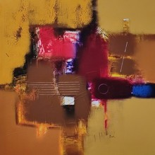 Abstract Acrylic Art Painting title Untitled 1 by artist Paras Parmar