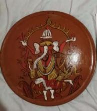 art, painting, acrylic, terracotta, religious, ganesha