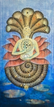 Religious Acrylic Art Painting title Protector by artist Pooja Shelke