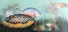 Animals Acrylic Art Painting title Underwater World 2 by artist Pooja Shelke