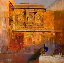 Cityscape Acrylic Art Painting title Heritage 1 by artist Sayajirao Nangare
