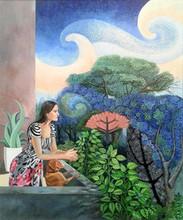 Figurative Acrylic Art Painting title The Relationship by artist Subhamita Sarkar