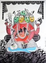 Religious Pen-ink Art Drawing title Indian Idol by artist Sourav Nandy