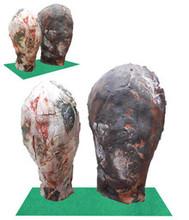 Ceramic Sculpture titled 'Two Face' by artist Souvik Das