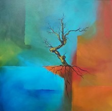 Nature Acrylic Art Painting title Untitled 1 by artist Sanjay Dhawale
