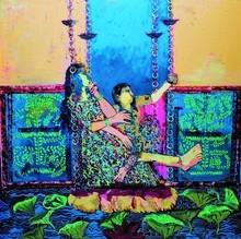 Figurative Acrylic-oil Art Painting title Untitled by artist Subhash Babhulkar