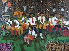 Figurative Oil Art Painting title Untitled 5 by artist Subhash Babhulkar