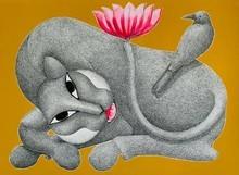 Animals Acrylic Art Painting title Untitled 8 by artist Venkat Shyam